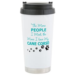 I Love My Cane Corso Stainless Steel Travel Mug