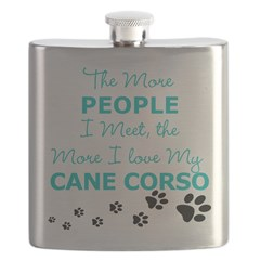 I Love My Cane Corso Flask