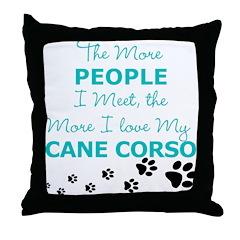 I Love My Cane Corso Throw Pillow