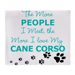I Love My Cane Corso Throw Blanket