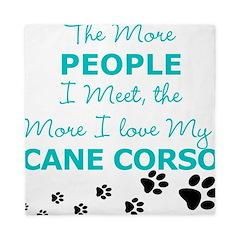 I Love My Cane Corso Queen Duvet
