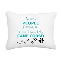 I Love My Cane Corso Rectangular Canvas Pillow