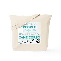 I Love My Cane Corso Tote Bag
