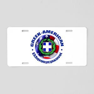 Greek-American Aluminum License Plate