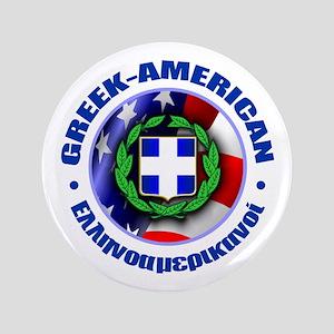 """Greek-American 3.5"""" Button"""