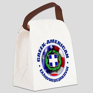 Greek-American Canvas Lunch Bag