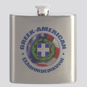 Greek-American Flask