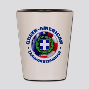 Greek-American Shot Glass