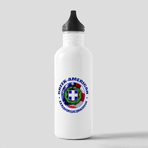 Greek-American Water Bottle