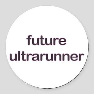 Future Ultrarun Purple Round Car Magnet
