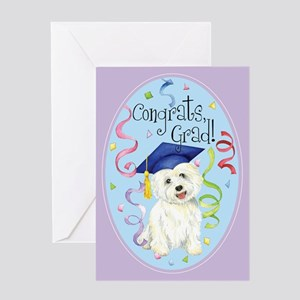 Westie Graduate Greeting Card