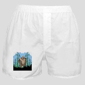 Bigfoot in timber Boxer Shorts