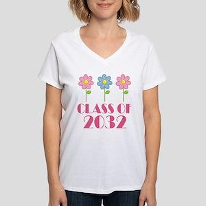 Class of 2032 (butterfly) Women's V-Neck T-Shirt