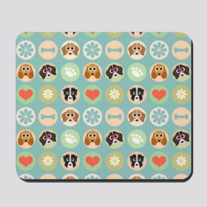 Dogs, Hearts and Paws Mousepad