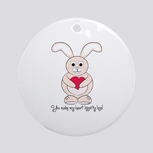 You Make My Heart Hippity Hop! Ornament (Round)
