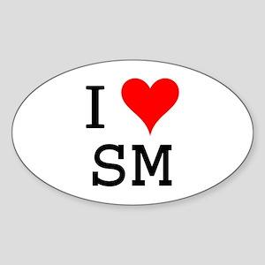 I Love SM Oval Sticker