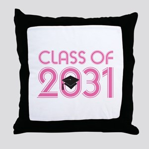 Class of 2031 Grad (striped) Throw Pillow
