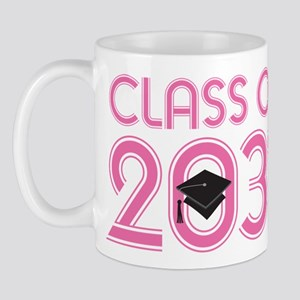 Class Of 2031 Grad (striped) Mugs