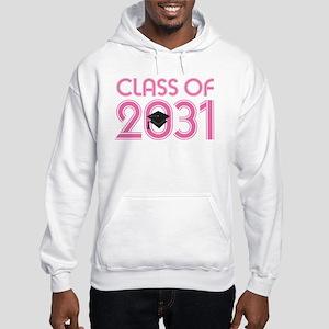 Class of 2031 Grad (striped) Hoodie