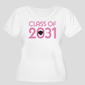 Class of 2031 Grad (striped) Plus Size T-Shirt