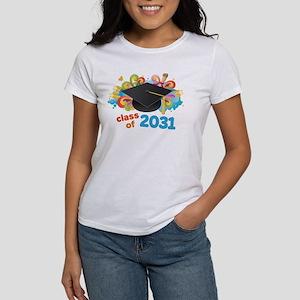 Class Of 2031 Grad Hat Logo T-Shirt