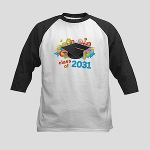 Class Of 2031 Grad Hat Logo Baseball Jersey
