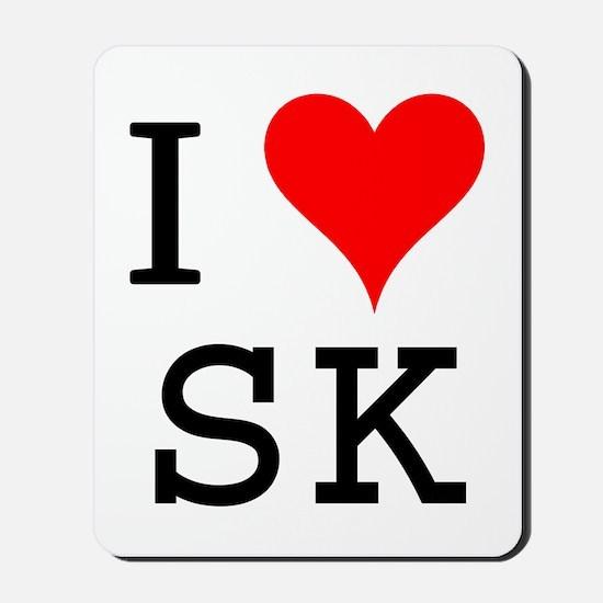 I Love SK Mousepad