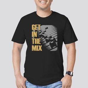 Get In the Mix Men's Fitted T-Shirt (dark)