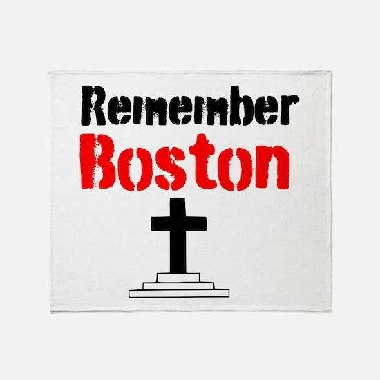 Remember Boston Throw Blanket