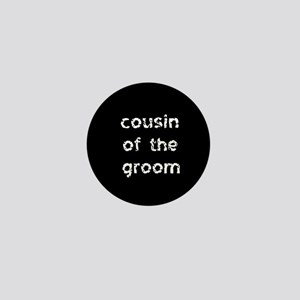 Cousin of the Groom Black Mini Button
