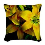 Waiting for the light Woven Throw Pillow