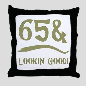 65th Birthday Humor Throw Pillow