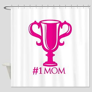 No.1 Mom Shower Curtain
