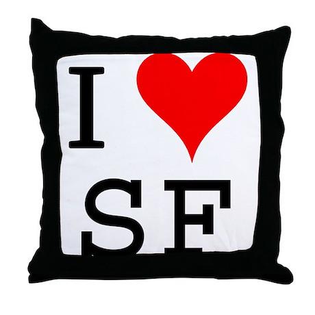 I Love SF Throw Pillow