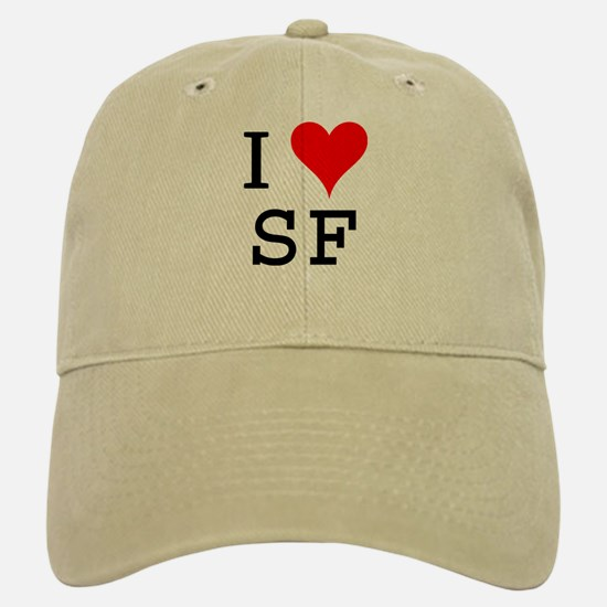 I Love SF Baseball Baseball Cap