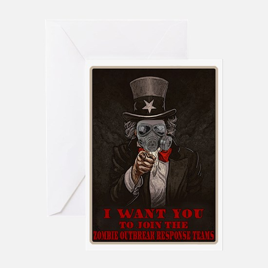Zombie Outbreak Response Team Recrui Greeting Card