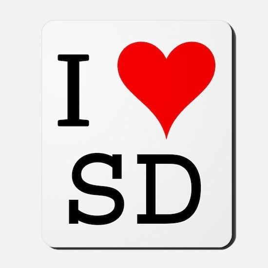 I Love SD Mousepad