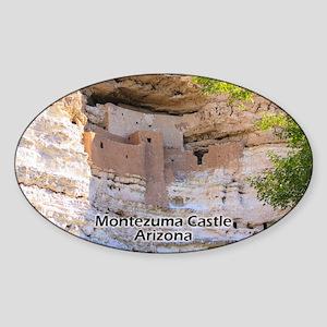 Montezuma Castle Sticker (oval)