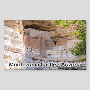 Montezuma Castle Sticker (rectangle)