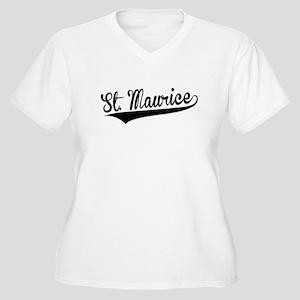 St. Maurice, Retro, Plus Size T-Shirt