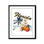 Retro Florida Framed Panel Print