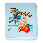 Retro Florida baby blanket
