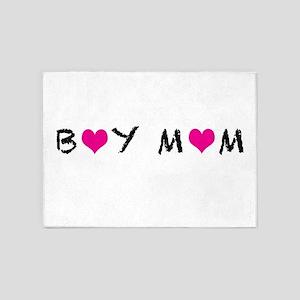 Boy Mom 5'x7'Area Rug