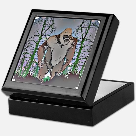Bigfoot in timber Keepsake Box