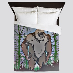 Bigfoot in timber Queen Duvet