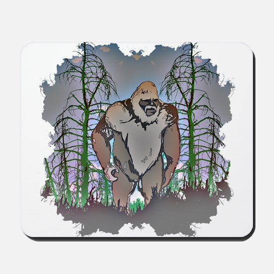 Bigfoot in timber Mousepad