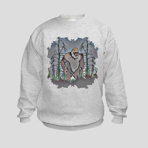 Bigfoot in timber Kids Sweatshirt