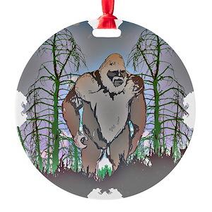 bigfoot ornaments cafepress - Bigfoot Christmas Ornament