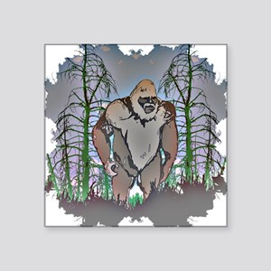 "Bigfoot in timber Square Sticker 3"" x 3"""