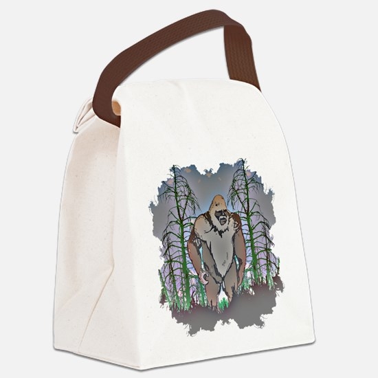 Bigfoot in timber Canvas Lunch Bag